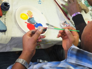 Glücksstein malen